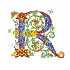 Fairies World Jane Sullivan Celtic calligraphy R 'illuminated_letter' fonts Illuminated letter R is for Rhadegund the Rabbit ©Jane Sullivan Illuminated letter R is for Rhadegund the Rabbit© Calligraphy R, Beautiful Calligraphy, Celtic Patterns, Celtic Designs, Illuminated Letters, Illuminated Manuscript, Creative Lettering, Hand Lettering, Letter Art
