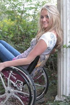 "Amber Marcy - Former Ms. Wheelchair Michigan, Co-star of ""Defining Beauty"" and member of Team Colours."