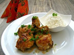 Indická kuřecí stehýnka s kokosovým mlékem