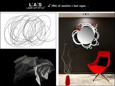 #CuriosityLAS A doodle that becomes a modern #mirror! http://www.laserartstyle.it/home/gallery/specchiere/ #interiordesign