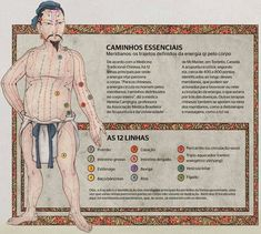 Os Meridianos do Corpo na Medicina Chinesa Qigong, Ayurveda, Chakra Chart, Sleep Yoga, Accupuncture, Taoism, Stress Less, Chinese Medicine, Tai Chi