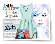 """SHEIN GREEN A-LINE DRESS!"" by elena-indolfi ❤ liked on Polyvore featuring Ted Baker, summerstyle, summerdress, summerfashion and shein"