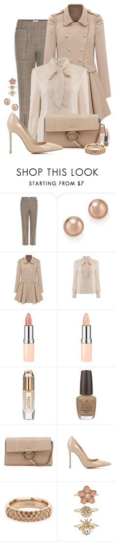 """""""Nude Chic"""" by spells-and-skulls ❤ liked on Polyvore featuring 3.1 Phillip Lim, Bloomingdale's, Rimmel, Burberry, OPI, Chloé, Gianvito Rossi, Vitaly, Accessorize and chloe"""
