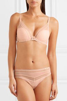 e18759f8908 Chantelle - Festivité stretch-lace and tulle plunge T-shirt bra