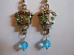'Day of the Dead Earrings Blue' is going up for auction at  9am Sun, Sep 9 with a starting bid of $5.