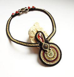 Soutache jewelry.Soutache necklace.OOAK.Handmade by beadsbyPanka, Ft24000.00