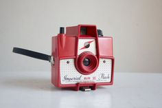 Vintage Camera, Red Imperial Flash Mark XII. Rare and super fun color.
