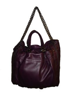 Women's Hype Mary Solid Handbag (Aubergine) 120R