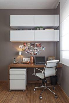 Apartamento MD : Escritórios modernos por ÓBVIO: escritório de arquitetura #homeofficedecorating #Productividad