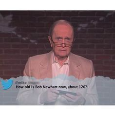 Bob Newhart reading mean tweets on Jimmy Kimmel Live