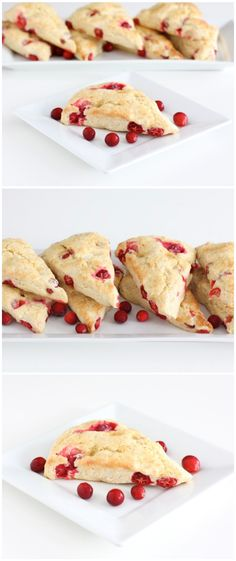 Cranberry Scones Recipe on twopeasandtheirpod.com The perfect recipe for cranberry season!