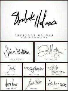 Sherlock signatures