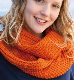 tricoter un snood au point de sable