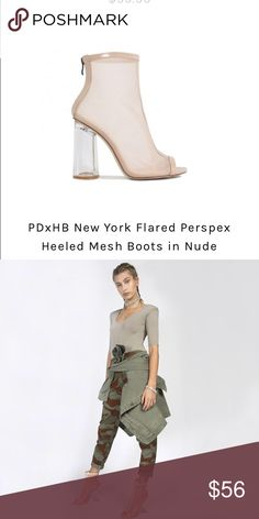 PUBLIC DESIRE X HAILEY BALDWIN MESH HEELS So so so cute! Perfect for day or night!! Public Desire Shoes Ankle Boots & Booties