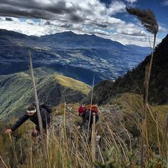 Phone photo: @ivankphoto Two girls from California make their way up to the summit of #Pasochoa (4200 m) an extinct volcano near #Quito #Ecuador. Pichincha (4800 m) can be seen above Quito in the background. @runa_photos @thephotosociety @panospictures @natg by natgeo