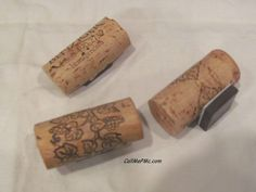 Wine Cork Craft ~ Refrigerator Magnets > Call Me PMc Wine Craft, Wine Cork Crafts, Wine Bottle Crafts, Diy Crafts For Kids, Fun Crafts, Arts And Crafts, Easy Diy Crafts, Diy Craft Projects, Craft Ideas