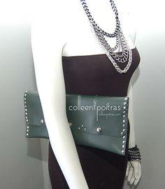 Colleen Poitras * A Distinctive Approach to Design   Handbags & Clutches. Rocker Chic handbag from www.colleenpoitras.com. $75