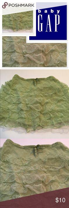Baby Gap ruffle skirt Sweet green skirt from Baby Gap size 4 GAP Bottoms Skirts