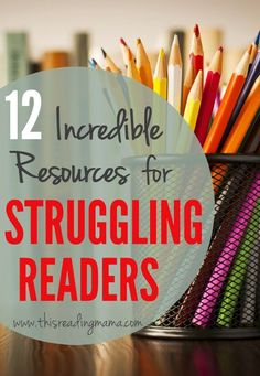 This list includes resources that cover dyslexia, book selection, motivation, spelling instruction, and tons of practical, hands-on activities you can try with your struggling readers.