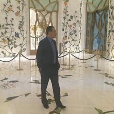 Chairman and Founder of Adgeco Group Mohamed Dekkak with Doctor Nouredine Radhi at Sheikh Zayed Mosque Abu Dhabi