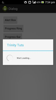 Android Alert and progress dialog