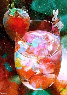 Food Illustrations, Illustration Art, Cool Backgrounds Wallpapers, Complex Art, Food Poster Design, Anime Galaxy, Illusion Art, Painting Wallpaper, Tea Art