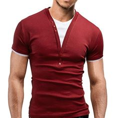 Casual Round Color Short Sleeve Color Block T-Shirt for Men - Kholyne Marc brand Gift Ideas