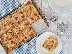 Phyllo Apple Tart _ with almonds and caramel instead of walnuts and maple...AWESOME!!!