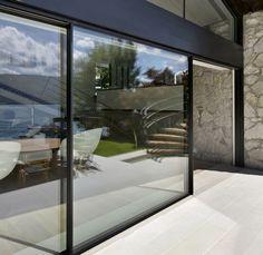 Vitrocsa large glazed invisible track panel minimal windows not Keller