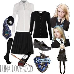 Hogwarts Uniform - Ravenclaw / Luna Lovegood, created by bea-lovegood on Polyvore