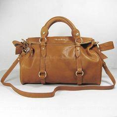 ab62debd3043 Miu Miu Khaki Bow Convertible Satchel Bags Size  15