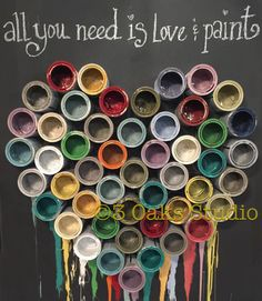 All you need is Love & Paint! Happy Valentine's Day! Shop Display via Annie Sloan Stockist 3 Oaks Studio.