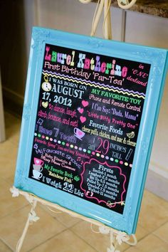 Welcome sign at an Alice in Wonderland birthday party! See more party planning at CatchMyParty.com!