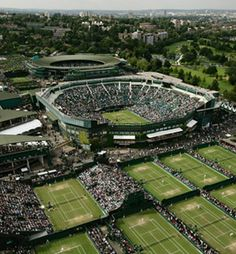 The grass courts of Wimbledon
