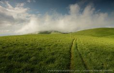 Flat hills of the Greater Fatra mountains range in Slovakia.  www.simplycarpathians.com