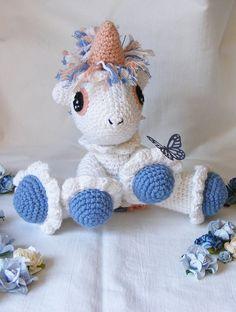 """Crochet amigurumi Unicorn by Sapimano on Etsy,  $22.00"" #Amigurumi  #crochet"