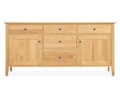 Room & Board - Adams 36h 74w Two-Door/Five-Drawer Cabinet