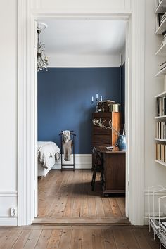 Inky blue walls