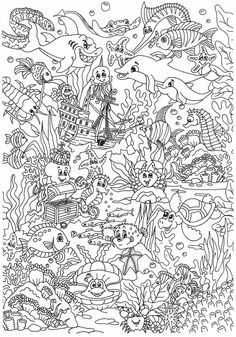 Printable Disney Finding Dory Pdf Coloring High quality free printable coloring, drawing, painting pages here for boys, girls, children . Free Adult Coloring Pages, Animal Coloring Pages, Coloring Book Pages, Coloring Pages For Kids, Coloring Sheets, Kids Coloring, Hidden Pictures, Sea And Ocean, Colorful Pictures