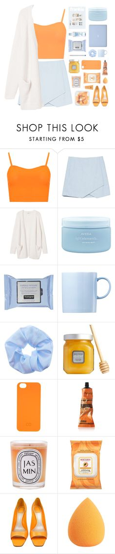 """≪ orange ice"" by xhopefulromanticx ❤ liked on Polyvore featuring WearAll, Monki, Aveda, Rosenthal, Laura Mercier, C6, Aesop, Diptyque, Burt's Bees and Christian Dior"