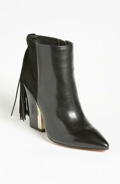 Free shipping and returns on Sam Edelman 'Mariel' Bootie at Nordstrom.com. A fringed ponytail flirts at the back of a contemporary twin-texture bootie boosted by a metal-inset heel.