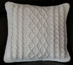 Granny Square Crochet Pillow Pattern
