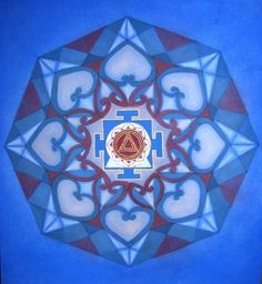 Kali Mandala by Mavis Gewant - Sacred Mother Arts  I think this would be a good yantra for a person with Rahu and Saturn conjunct in their chart, or for this year, while Rahu and Saturn are conjunct.