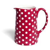 Red Polka Dot Milk Jug