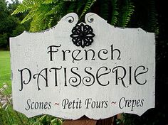 French Sign / French Patisserie (Bakery) Cottage Sign 17.5x24