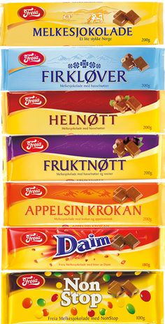 Freia brand chocolate.  I truly think this is some of the best chocolate in the world.