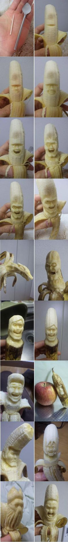 spoon + toothpick + banana = art?