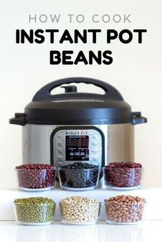 healthy cooking Here is your fail-proof guide for Instant Pot Beans. Instant Pot black beans, Instant Pot pinto beans, instant pot kidney beans, and many more, basically an encyclopedia about cooking beans in the instant pot. Instant Pot Pressure Cooker, Pressure Cooker Recipes, Pressure Cooking, Slow Cooker, Pressure Cooker Black Beans, Chef Gourmet, Healthy Cooking, Cooking Recipes, Sweets