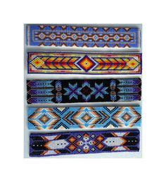 Native American Cuff Collection (bead patterns) by Out of the Flames