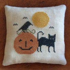 Halloween Cross Stitch Sampler Pattern HALLOWEEN FRIENDS pdf